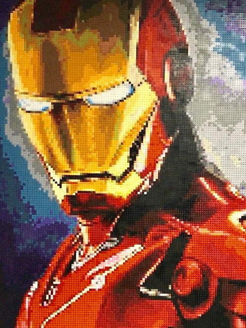 "Custom Commission - Iron Man  (36""W x 48""H)"