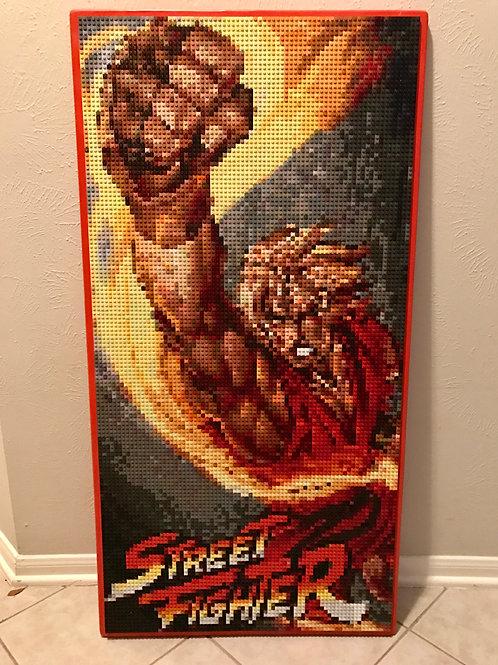 "Custom Commission - Street Fighter's Ken Masters  (24""W x 48""H)"