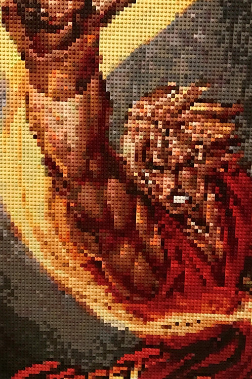 "Custom Commission - Street Fighter's Ken Masters  (24""W x 48""H)"
