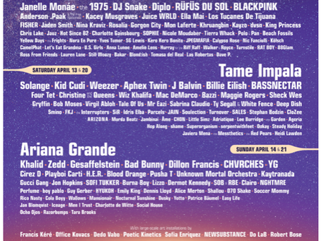 COACHELLA DIMINISHES ROCK N ROLL FROM 2019 LINEUP