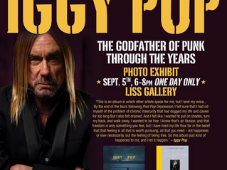 IGGY POP: The Godfather of Punk Exhibit On Now In Toronto
