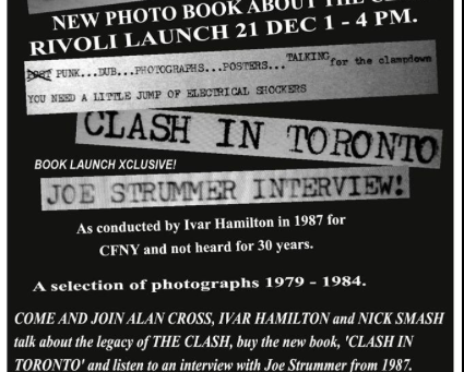 Free event celebrating The Clash this weekend in Toronto