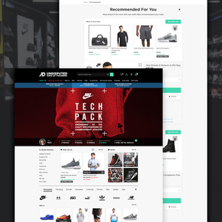 JD Sports Website Ui