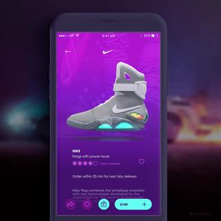 Future Nike Mags App design