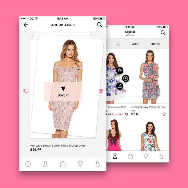 Quiz Clothing App design