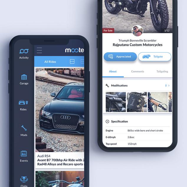 Mooters Network App design