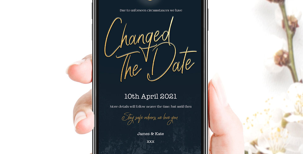 Changed The Date Social Pack - Navy Gold
