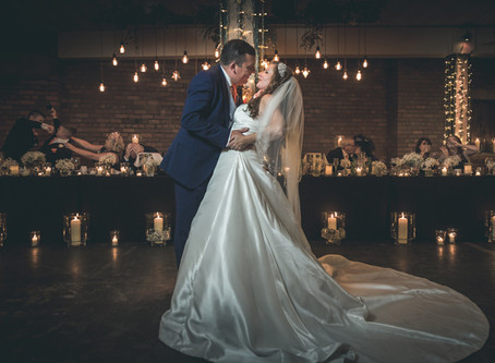 Angela & Chris had an industrial wedding at Victoria Warehouse