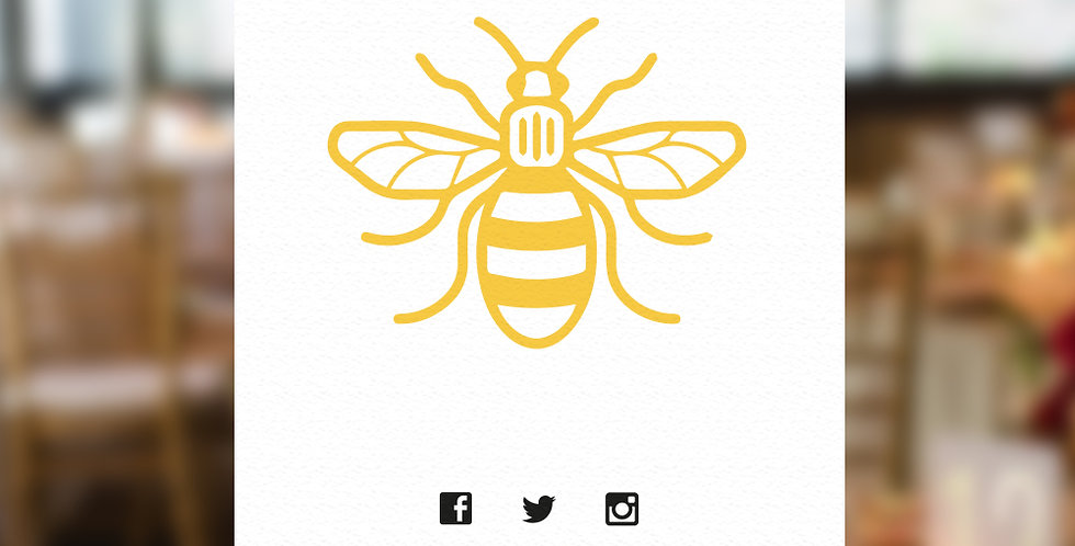 Manchester Bee Table Name Cards