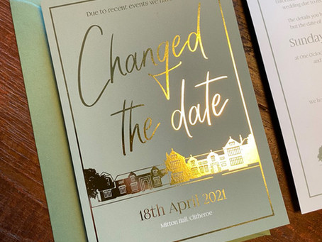 Changing the date of your wedding day?