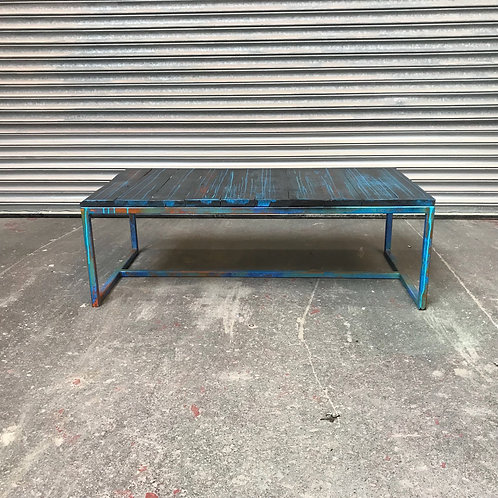Industrial abstract art coffee table