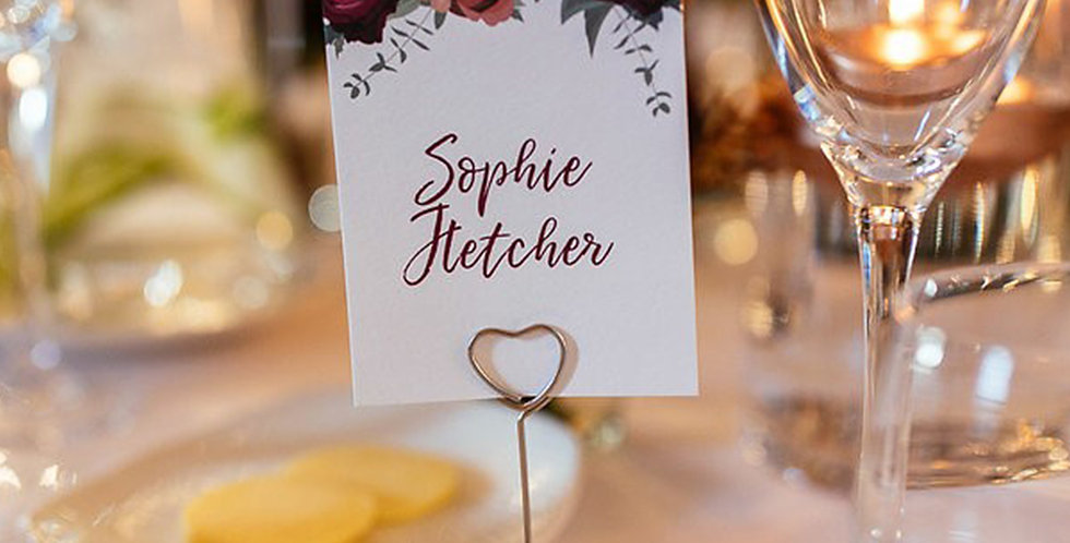 Floral Place Name Cards