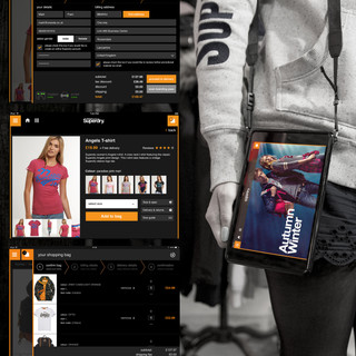 Superdry instore iPad UI