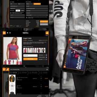 Superdry instore iPad UI