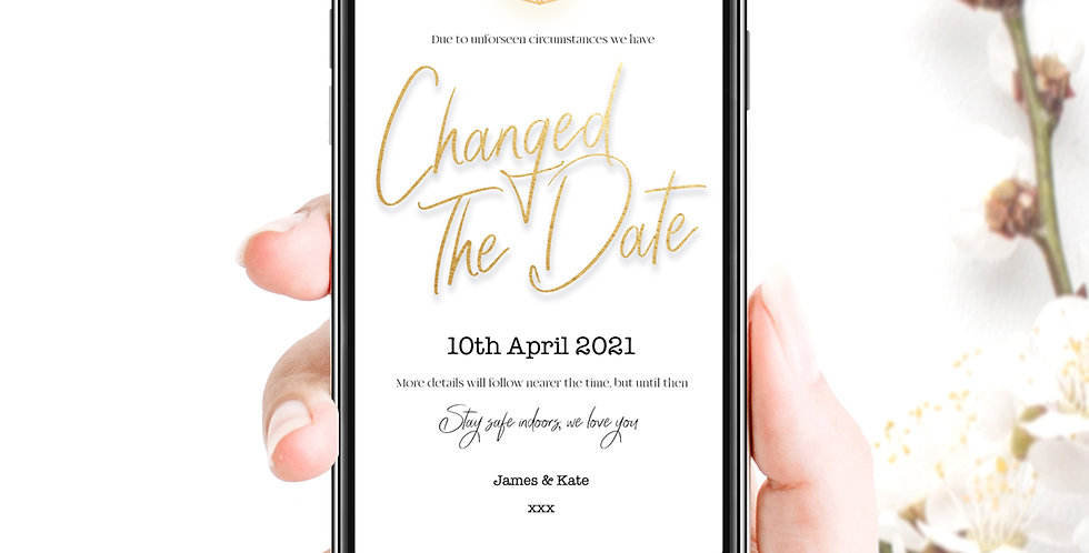 Changed The Date Social Pack - White Gold