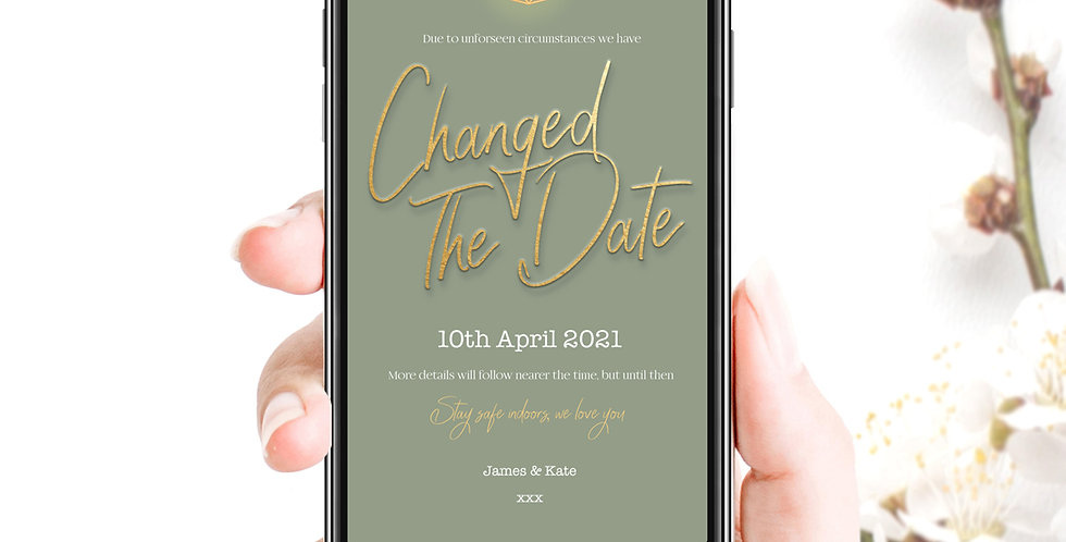 Changed The Date Social Pack - Sage Gold