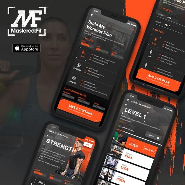 Mastered Fit app design
