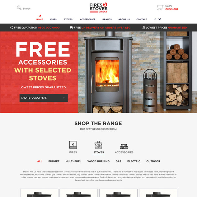 Fire Stoves Cheshire website