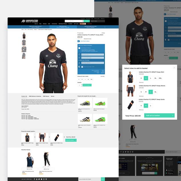 JD Sports Website Ui
