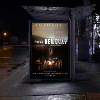 Newquay Movie Travel Poster Bus Shelter