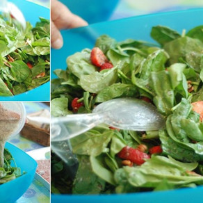 TERRY'S STRAWBERRY PECAN SPINACH SALAD