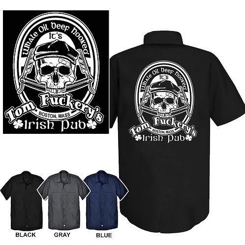 XXL-3XL Tom Fuckery's Irish Pub Work Shirt