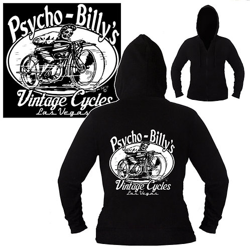 S-XL Unisex Psycho Billy's Vintage Cyles Hoodie