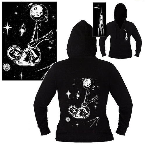 XXL-3XL Unisex Space Girl Pin-up Hoodie