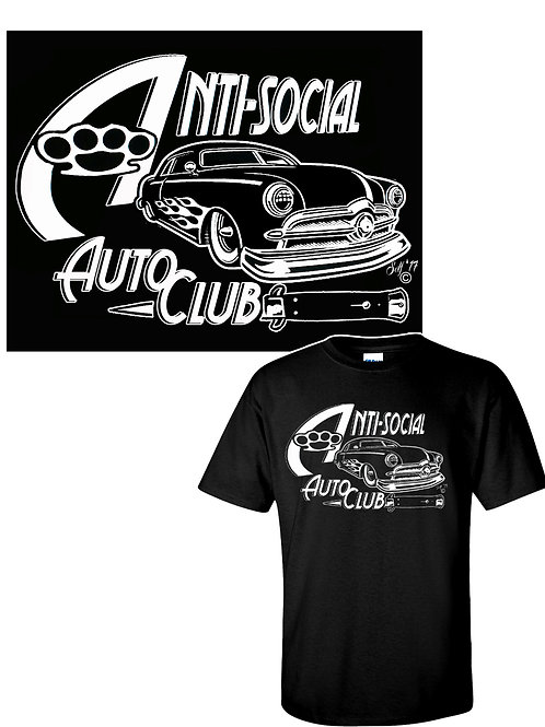 XXL-3XL Men's Anti-Social Auto Club  Crewneck T