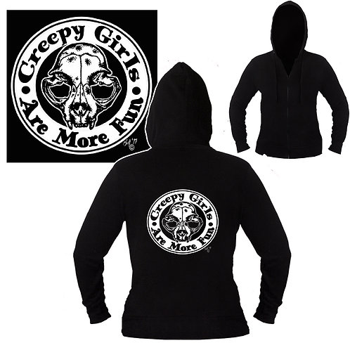 XXL-3XL Unisex Creepy Girls Are More Fun Hoodie