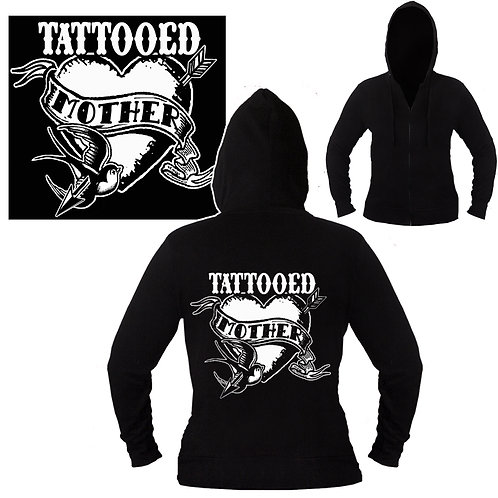 Sm-XXL Women's Tattooed Mother Mid-weight Hoodie