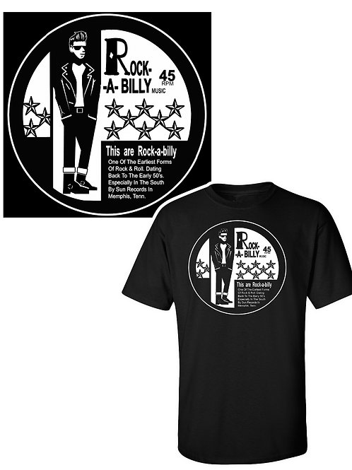 XXL-3XL Men's Rock-A-Billy Crewneck T
