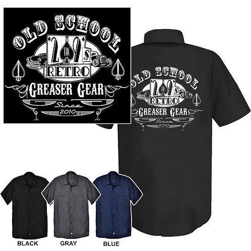 Med-XL 2the9s Retro Greaser Gear WorkShirt