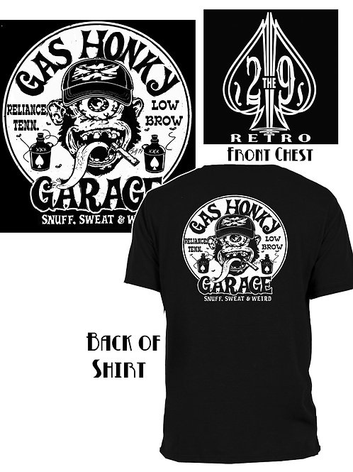 Med-XL Gas Honky Garage Crewneck T