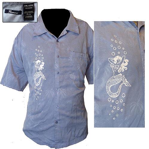 XXL Blue Mermaid Beach Shirt