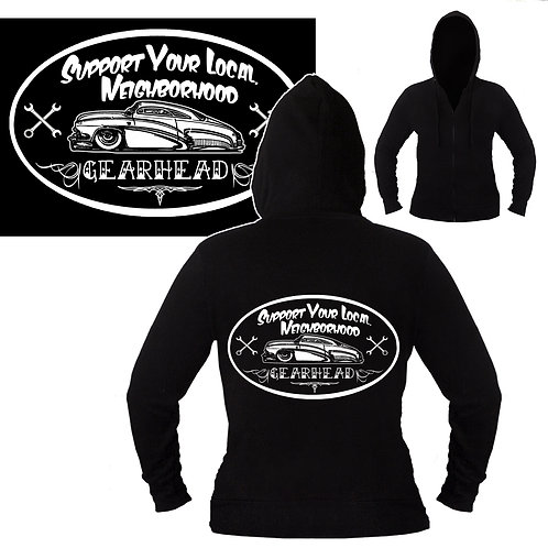 S-XL Unisex Support Your Neighborhood Gearhead Hoodie