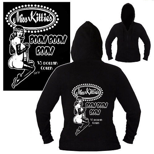 S-XL Unisex Miss Kitties Boom Boom Room Hoodie