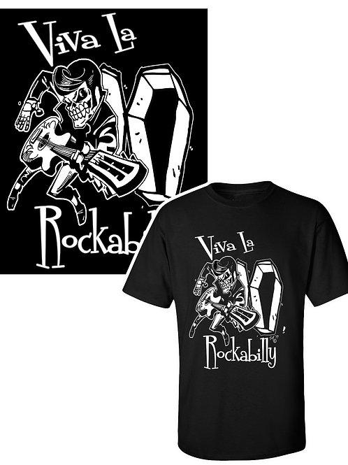 XXL-3XL Men'sViva La Rockabilly  Crewneck T