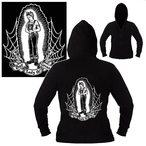 S-XL Unisex Our Lady of Grease Hoodie