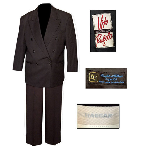 Vintage (Mix Set-Rufalo Jacket Haggar Pants) Double Breasted Suit