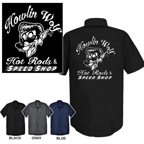 Med-XL Howlin' Wolf Speed Shop Work Shirt