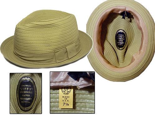 Vintage 1960's Buttercream Jiffy Hat