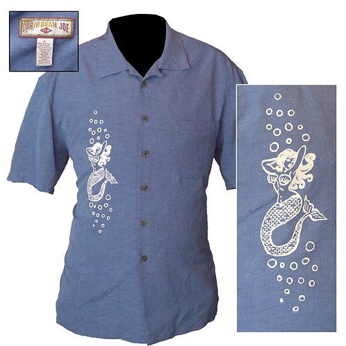 XL Blue Mermaid Beach Shirt