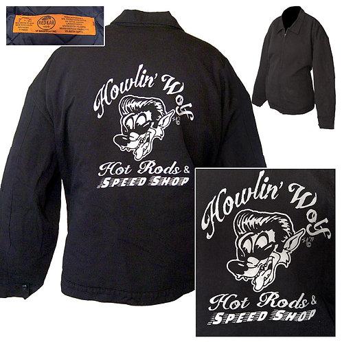 3XL Charcoal Gray RedKap Howlin' Wolf Speed Shop Mechanic Jacket