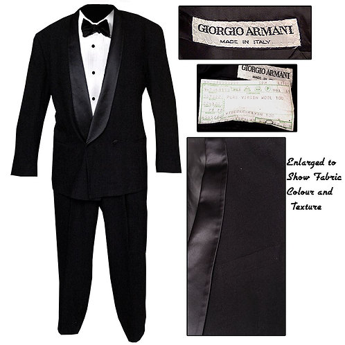 Vintage Shawl Collar Armani Tuxedo