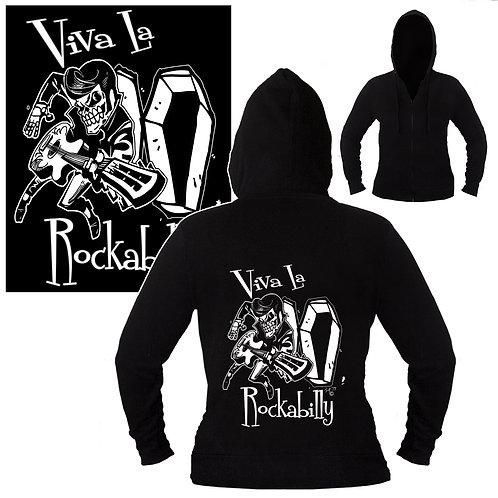 S-XL Unisex Viva La Rockabilly Hoodie