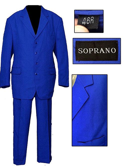 Retro Electric Blue 4 Button Soprano Suit
