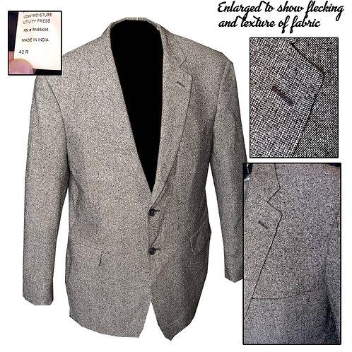 Retro 50's Style Gray/White/Black Fleck 2 Button Jacket