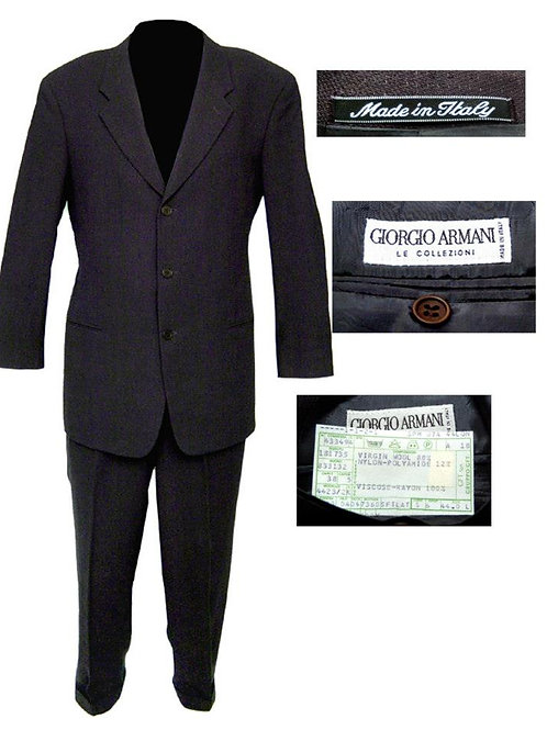 Charcoal Gray Armani 3 Button Mod Suit
