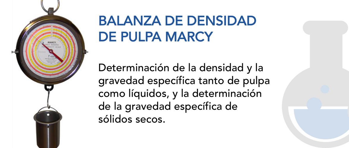 Balanza de Densidad de Pulpa Marcy